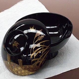 輪島塗 吸い物椀 蒔絵加飾
