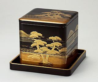 輪島塗 重箱 御重 松島蒔絵 (6.5寸3段重)