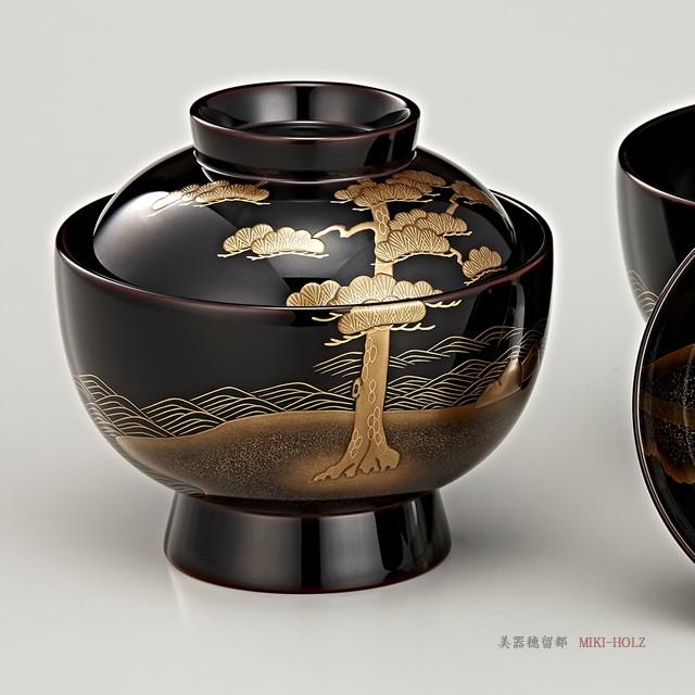 """<p class=""""eig"""">Urushi Art Wajimanuri:Soup bowl zouni-wan, pair bowl (code:1197)</p><p class=""""nih"""">輪島塗 雑煮椀 夫婦 溜内黒塗 松島蒔絵(桐箱入り)</p>"""