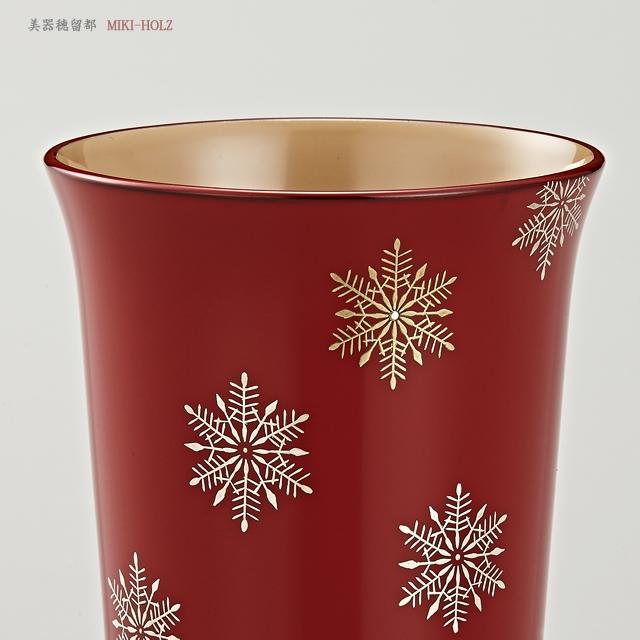 "<p class=""eig"">Urushi Art Wajimanuri:mug (code:1965shu)</p><p class=""nih"">輪島塗 マグカップ 端反り型  スノークリスタル蒔絵 (外朱内白)</p>"