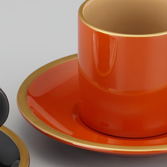 "<p class=""eig"">Urushi Art Wajimanuri:coffee cup (code:1906)</p><p class=""nih"">輪島塗 コーヒーカップ 金縁蒔絵 ペア 外黒内白/洗朱内白 漆塗りスプーン付き(桐箱入)</p><p class=""i95"">輪島塗 コーヒーカップ 金縁蒔絵 外洗朱内白</p>"