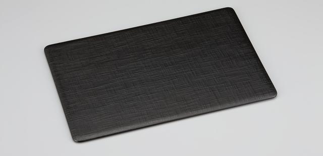 輪島塗 ランチョンマット 布摺り 黒/うるみ(リバーシブル)