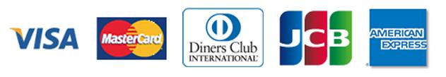 VISA/MASTER/DINERS/JCB/AMEX